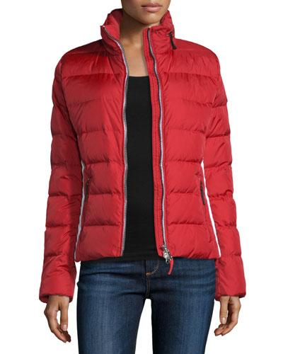 Lightweight Puffer Jacket, Red