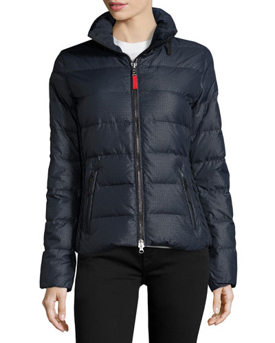 Lightweight Puffer Jacket, Navy Metallic