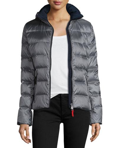 Lightweight Puffer Jacket, Silver