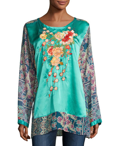 Blossom Embroidered Combo Top