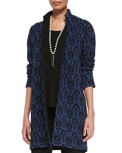 Renaissance Wool Knit Jacquard Jacket, Plus Size