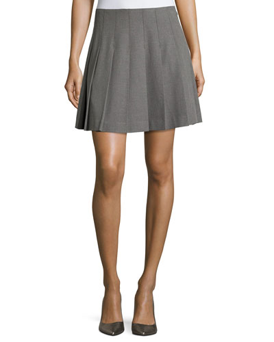 pleated skirt, miles gray melange