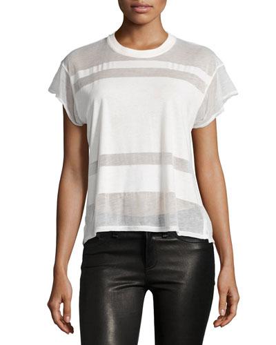 Vintage Burnout Crewneck T-Shirt, White