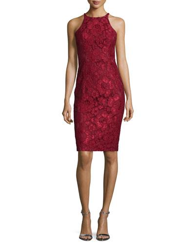 Sleeveless Lace Cocktail Dress, Smolder