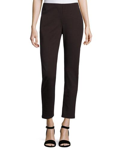 Tencel® Ponte Slim Pants, Clove, Petite