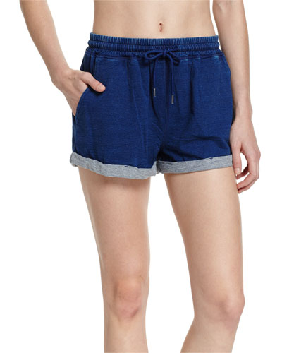 French Terry Beach Shorts, Indigo