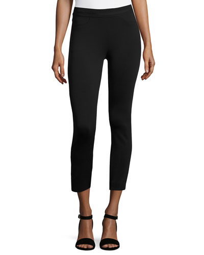 Quinn Cropped Leggings, Black