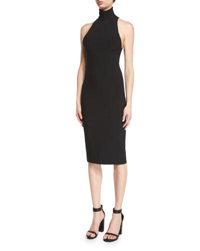 Dakota Sleeveless Midi Dress, Black