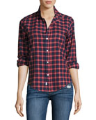 Barry Plaid Oxford Shirt, Red/Blue