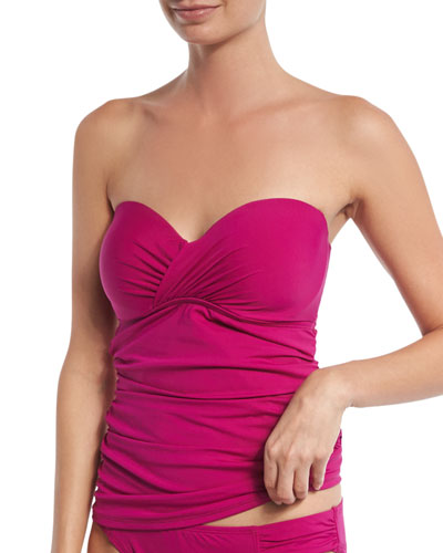 Pearl Underwire Solid Bandini Top, Wild Orchid (Available in D Cup)