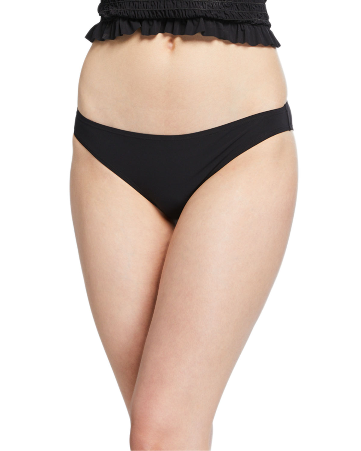 Solid Hipster Swim Bottom Black