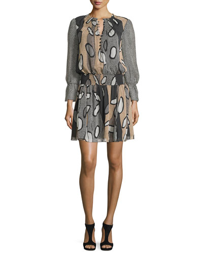 Kelley Printed Blouson Dress