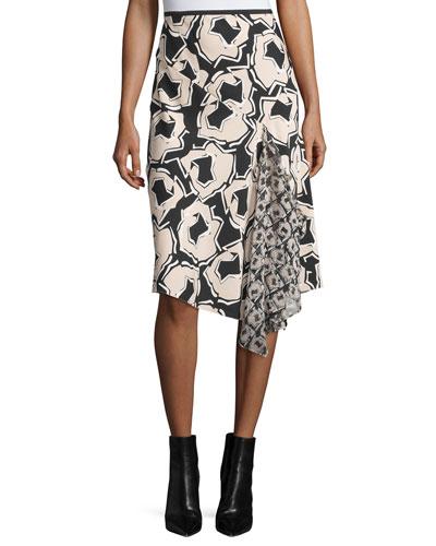 Petite Posey Printed Wrap Skirt