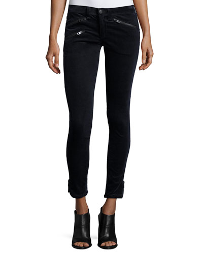 RBW 23 Velvet Skinny Ankle Jeans, Navy