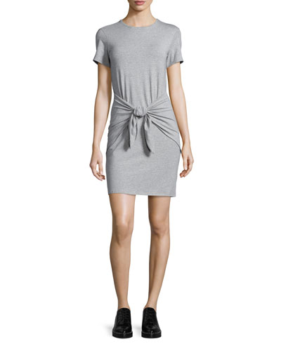 Dakui Rubric Tie-Waist T-Shirt Dress