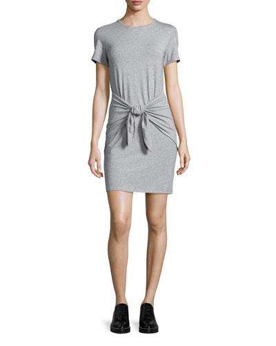 Dakui Rubric Tie-Waist T-Shirt Dress