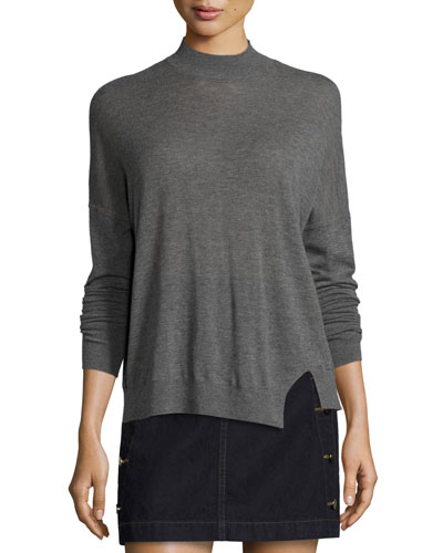 Acacia Merino Wool Mock-Neck Sweater