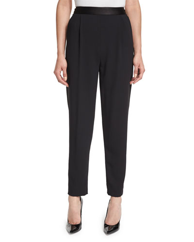 Jessie Single-Pleat Trousers, Black