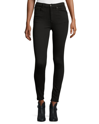 Dive Studded High-Rise Skinny Jeans, Black