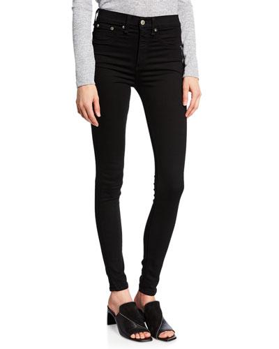 10 Inch Skinny Jeans, Black