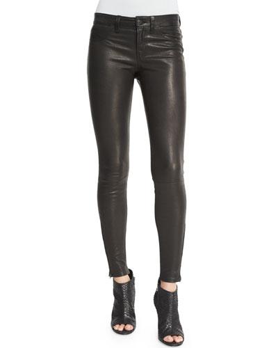 L8001 Noir Leather Super Skinny Pants