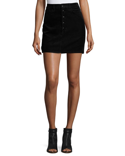 Rosaline Corduroy Mini Skirt, Black