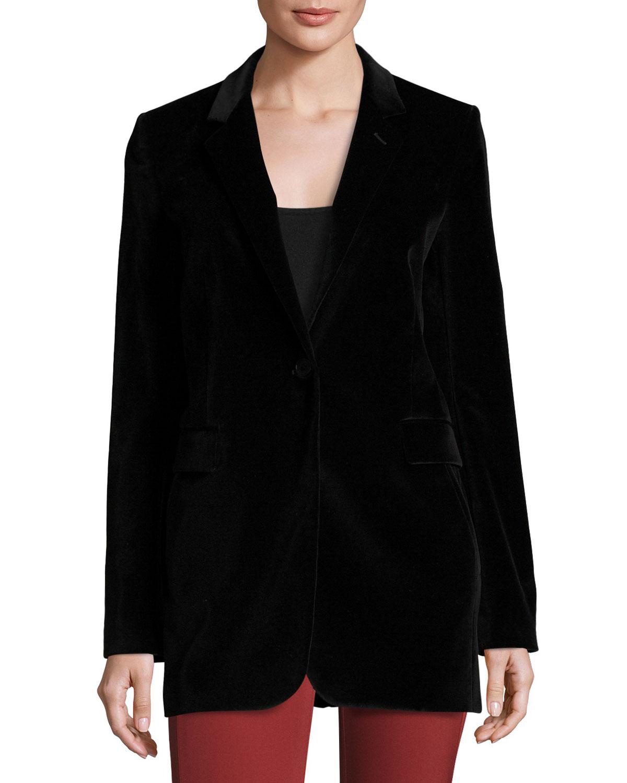 Berdyne B Stretch-Velvet Jacket, Black