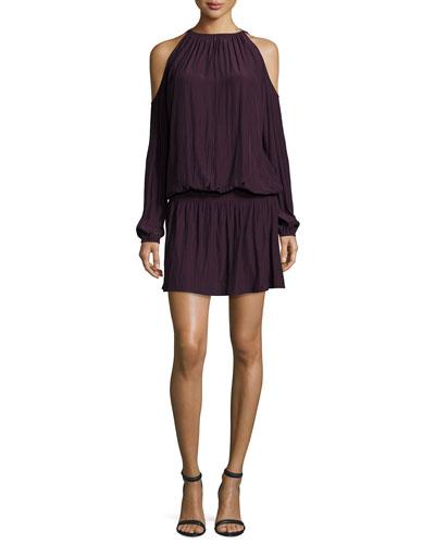 Lauren Cold-Shoulder Blouson Dress