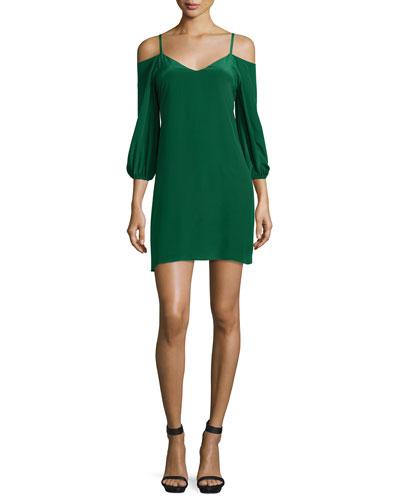 Carli Cold-Shoulder Crepe Mini Dress