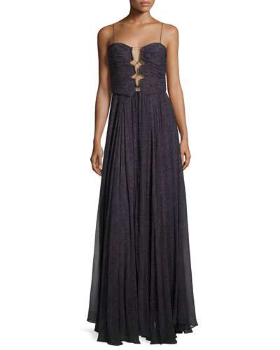 The Gala Printed Silk Maxi Dress, Ursula
