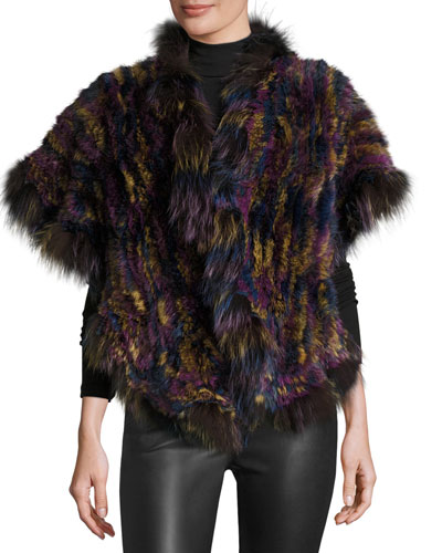 The Simone Fur Cape, Multicolor
