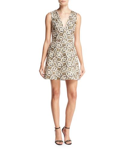 Patty Embroidered Lantern Dress