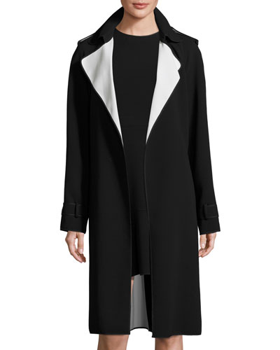 Laurelwood Crepe Colorblock Trench Coat