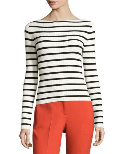 Blasina Prosecco Sweater, Eggshell/Black