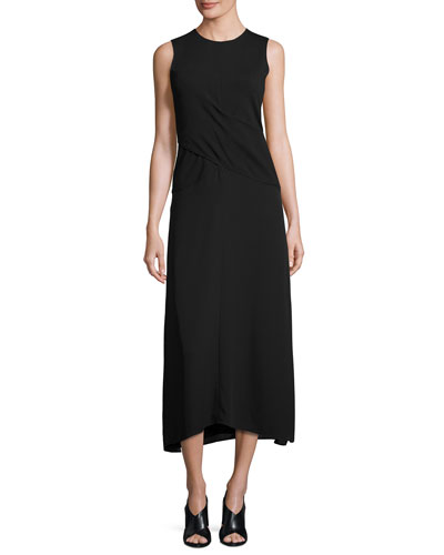 Parthenia DR Fixture Ponte Sleeveless Midi Dress, Black