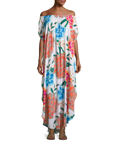 Arcadia Off-the-Shoulder Coverup Maxi Dress