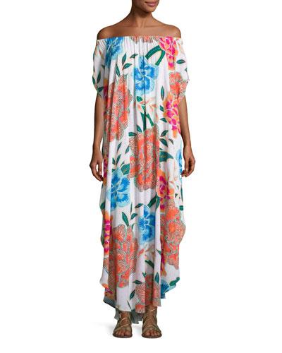 Arcadia Off-the-Shoulder Coverup Maxi Dress