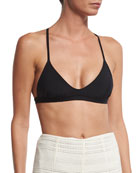 Mara Hoffman Scoop-Neck Swim Top, Black