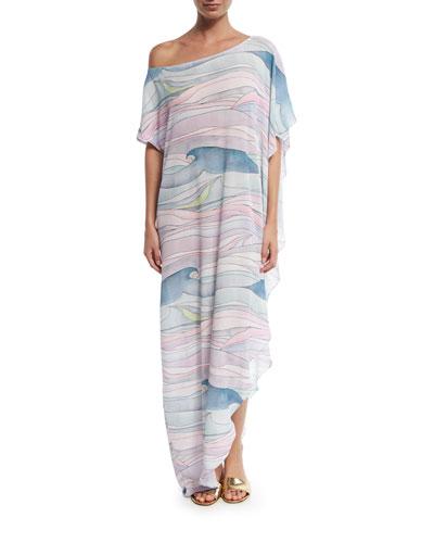 Wave Gauze Coverup Maxi Dress