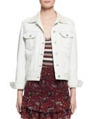 Christa Cotton Denim Jacket, Chalk