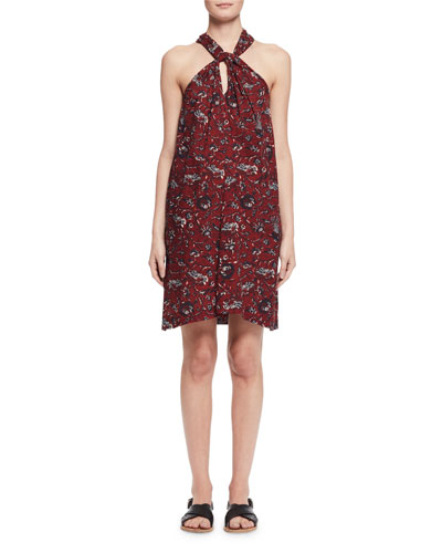 Aba Floral Voile Shift Dress