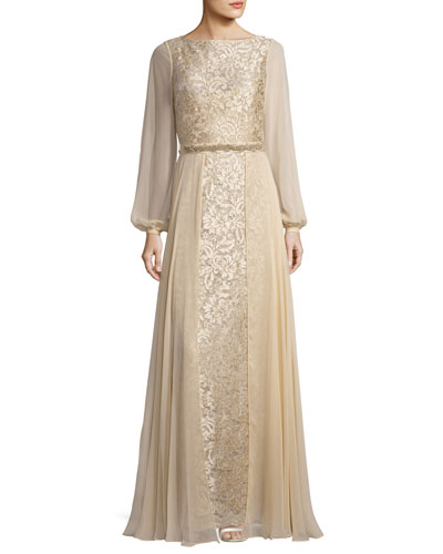 Silk chiffon gown neiman marcus for Neiman marcus dresses for weddings