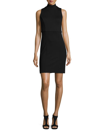 Lula High-Line Sheath Dress, Black