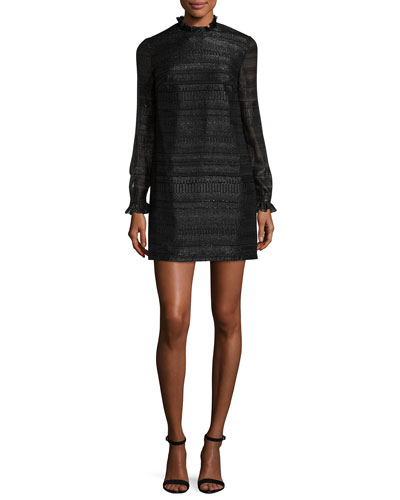 Cityscape Fil Coupe Carrie Dress, Black