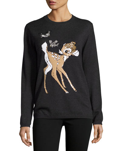 x Disney® Bambi Sequined Natalie Jumper, Charcoal