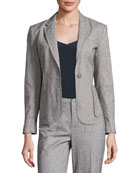 Tweed Schoolboy Blazer, Gray
