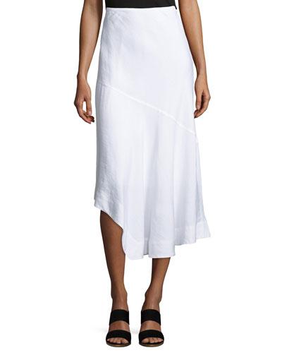 Long Engagement Linen-Blend Skirt