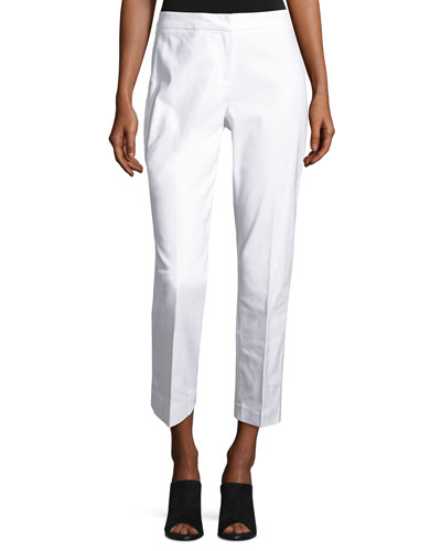 The Perfect Front-Zip Ankle Pants, Paper White