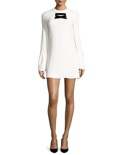 Josephine Bell-Sleeve Shift Dress