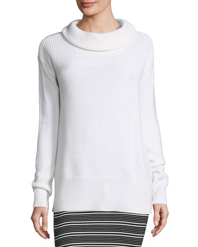 Cozy Merino Pullover Sweater, White